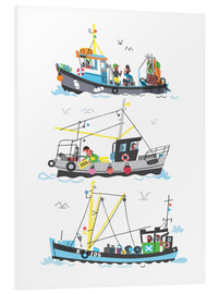 Cuadro de PVC  Three Fishing Boats - Peter Allen