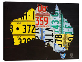 Lienzo  Australia License Plate Map - Design Turnpike