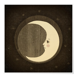 Póster Moon in the night