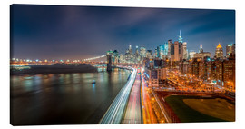 Lienzo  New York Panorama Night Skyline - Sascha Kilmer