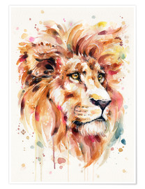 Póster  All Things Majestic (Lion) - Sillier Than Sally