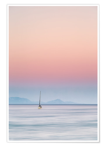 Póster Sailboat on the sea