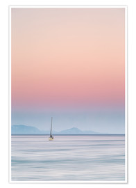 Póster  Sailboat on the sea - Filtergrafia