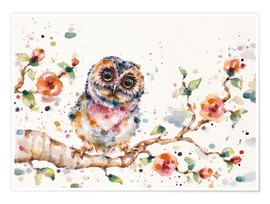 Póster  Yep Cute Is My Middle Name (baby Owl) - Sillier Than Sally