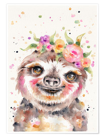 Póster  Little Sloth - Sillier Than Sally