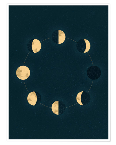 Póster Moon phases