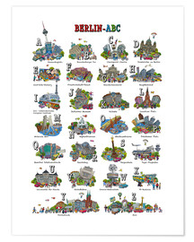 Póster  Abc de berlín - Cartoon City