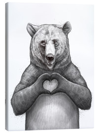 Lienzo  Bear with heart - Nikita Korenkov
