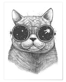 Póster Space cat
