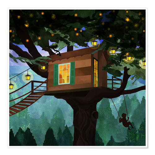 Póster Treehouse Adventure