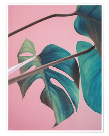 Póster  Sweet pink monstera leaves - Emanuela Carratoni