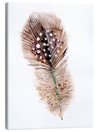 Lienzo  Feather brown - Verbrugge Watercolor