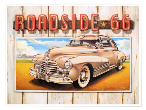 Póster Route 66 Roadside
