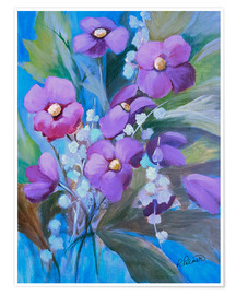 Póster  Purple Bouquet - Ruth Palmer