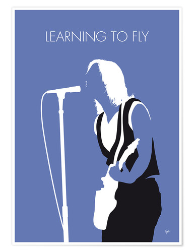 Póster Tom Petty - Learning To Fly