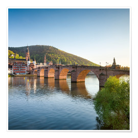 Póster  Heidelberg Old Bridge in spring, Baden-Wurttemberg, Germany - Jan Christopher Becke