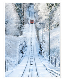 Póster  Historic mountain railway in Heidelberg, Baden-Wurttemberg, Germany - Jan Christopher Becke