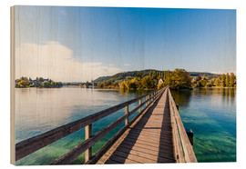 Cuadro de madera  Bridge to the monastery Werd on Lake Constance in Switzerland - Dieterich Fotografie