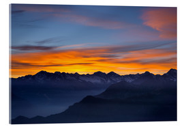 Metacrilato  Colorful sky at sunset over the Alps - Fabio Lamanna