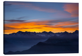 Lienzo  Colorful sky at sunset over the Alps - Fabio Lamanna