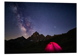Forex  Glowing camping tent under starry sky on the Alps - Fabio Lamanna