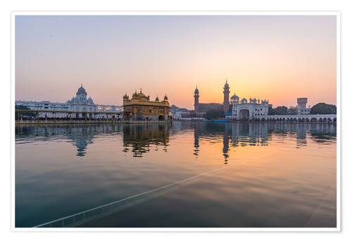 Póster The Golden Temple at sunrise, Amritsar, India