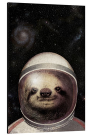 Aluminio-Dibond  Space Sloth Poster Lounge - Eric Fan
