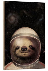Cuadro de madera  Space Sloth Poster Lounge - Eric Fan