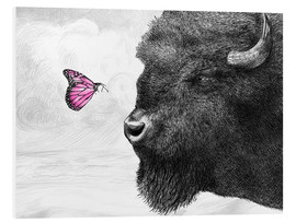Cuadro de PVC  Bison And Butterfly - Eric Fan