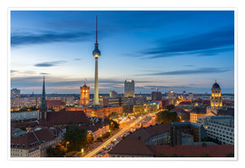 Póster Berlin skyline sunset