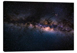 Lienzo  The Milky Way galaxy, details of the colorful core. - Fabio Lamanna