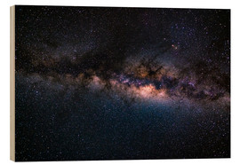 Cuadro de madera  The Milky Way galaxy, details of the colorful core. - Fabio Lamanna