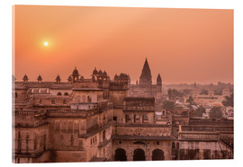 Cuadro de metacrilato  Orchha city at sunset, India - Fabio Lamanna