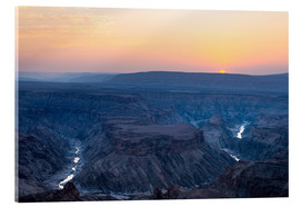 Cuadro de metacrilato  Fish River Canyon at sunset, travel destination in Namibia - Fabio Lamanna