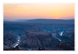 Póster  Fish River Canyon at sunset, travel destination in Namibia - Fabio Lamanna