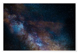 Póster  The Milky Way galaxy, details of the colorful core. - Fabio Lamanna