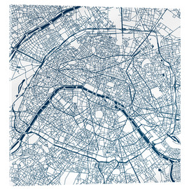 Cuadro de metacrilato  Mapa de paris - 44spaces
