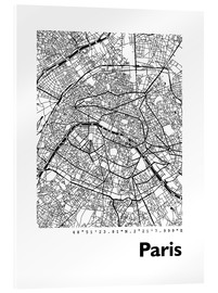 Cuadro de metacrilato  Mapa de París - 44spaces