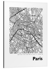 Cuadro de aluminio  Mapa de paris - 44spaces