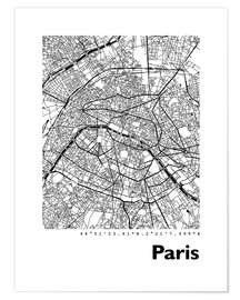 Póster  Mapa de paris - 44spaces