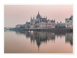 Póster  Colourful sunrises in Budapest - Mike Clegg Photography
