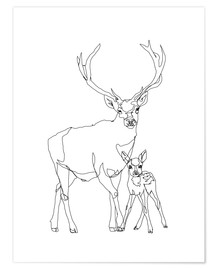 Póster Bambi & Stag