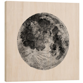 Cuadro de madera  Watercolour Moon (canvas) - Sophie Schultz