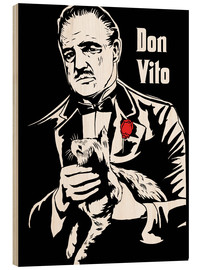 Cuadro de madera  Don Vito Corleone the godfather art print - 2ToastDesign