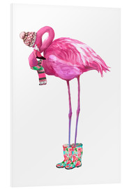 Forex  Pink flamingo with rubber boots - Kidz Collection