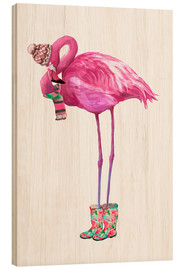Madera  Pink flamingo with rubber boots - Kidz Collection