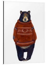 Aluminio-Dibond  Mr. Bär in Norwegian sweater - Kidz Collection
