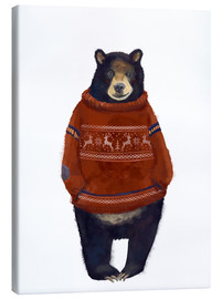 Lienzo  Mr. Bär in Norwegian sweater - Kidz Collection