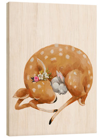 Madera  Fawn and baby bunny - Kidz Collection