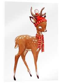 Metacrilato  Winter deer with scarf and hat - Kidz Collection